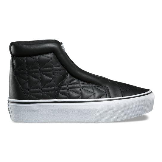 vans platform leather