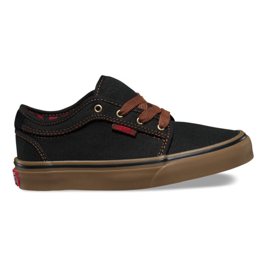 Kids Buffalo Plaid Chukka Low Shoes | Vans