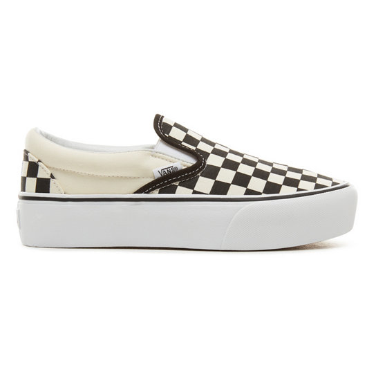Checkerboard Classic Slip-On Platform Shoes | Vans