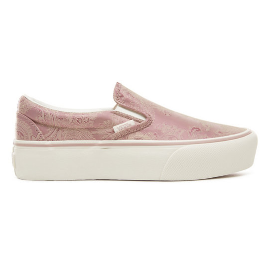 Satin Paisley Classic Slip-On Platform Shoes | Vans