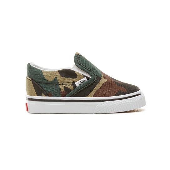 Toddler Woodland Camo Classic Slip-On Shoes (0-3 years) | Vans