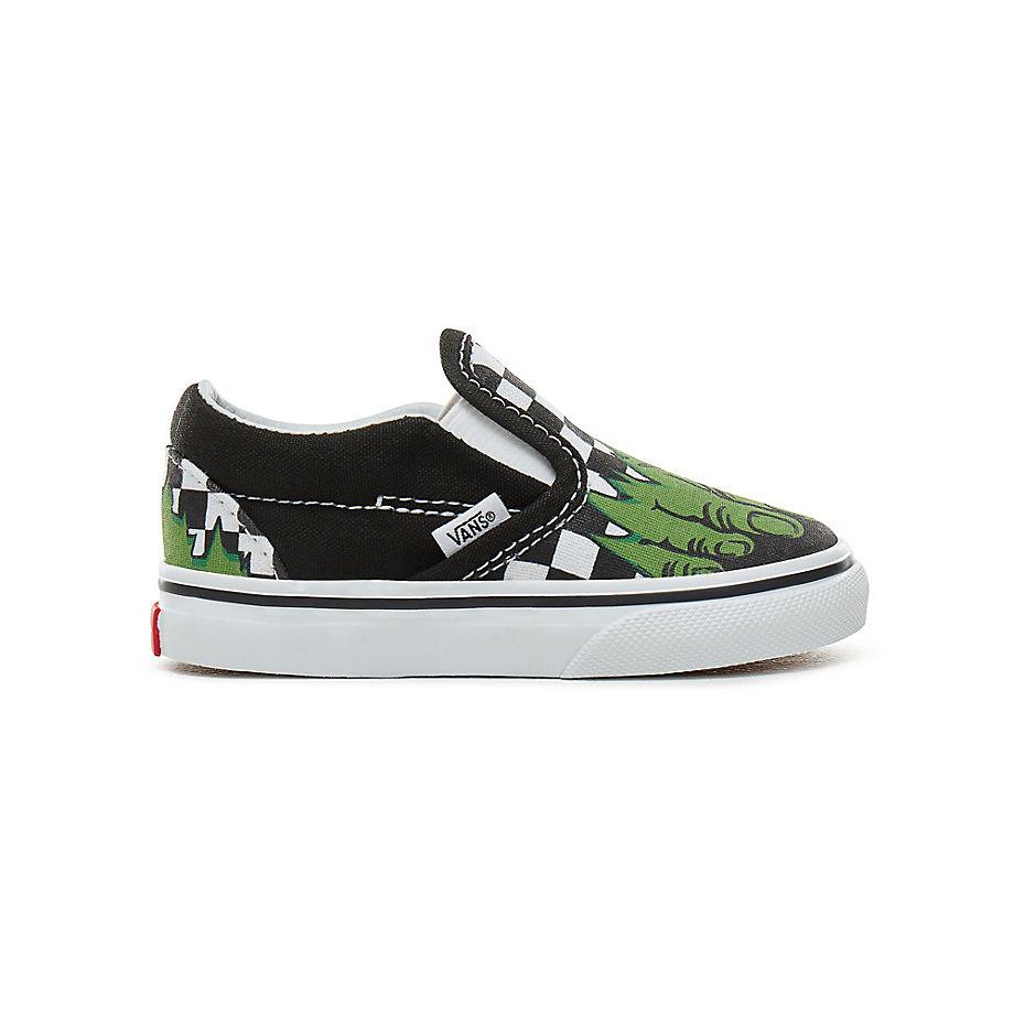 2c056487dfc823 VANS Toddler Vans X Marvel Classic Slip-on Shoes ((marvel) Hulk checkerboard)  Kids Multicolour