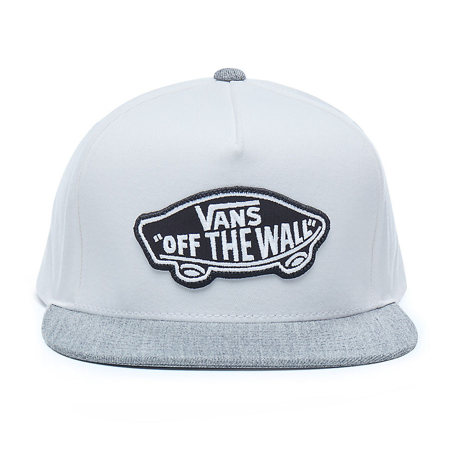 58535decffa VANS Classic Patch Snapback Hat (white-heather Grey) Men White ...