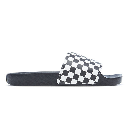 Checkerboard+Slide-On+Slippers