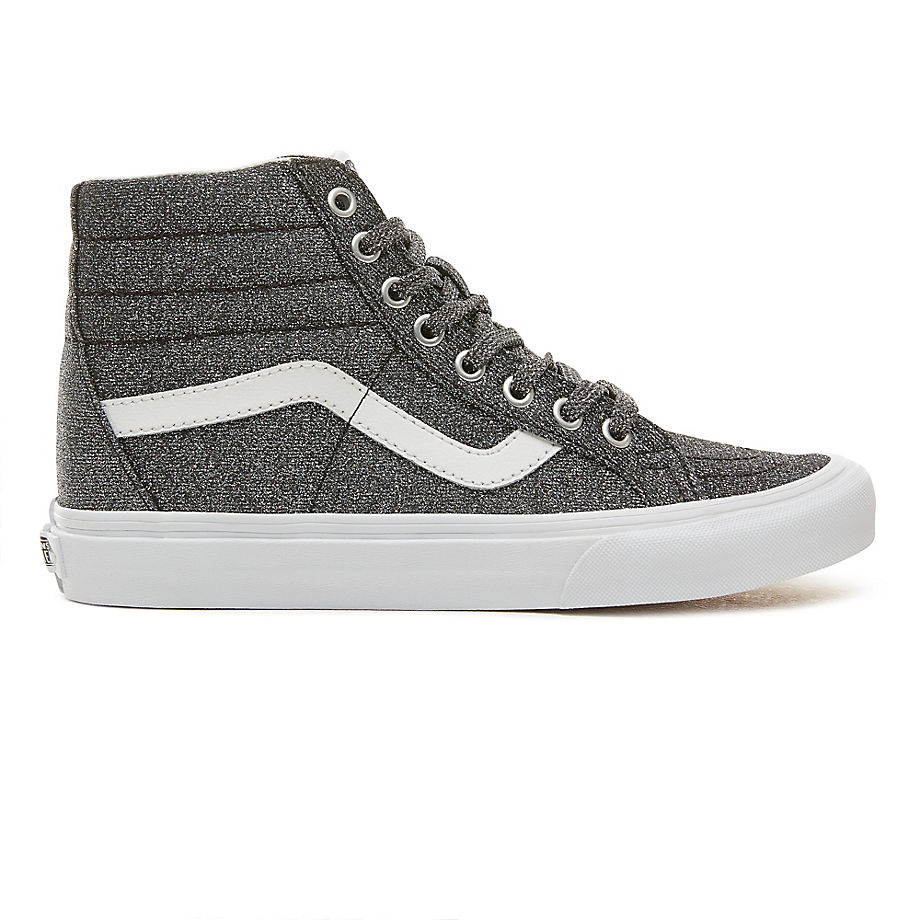 6bb549d3f19 VANS Lurex Glitter Sk8-hi Reissue Shoes ((lurex Glitter) Black true White)  Men Grey