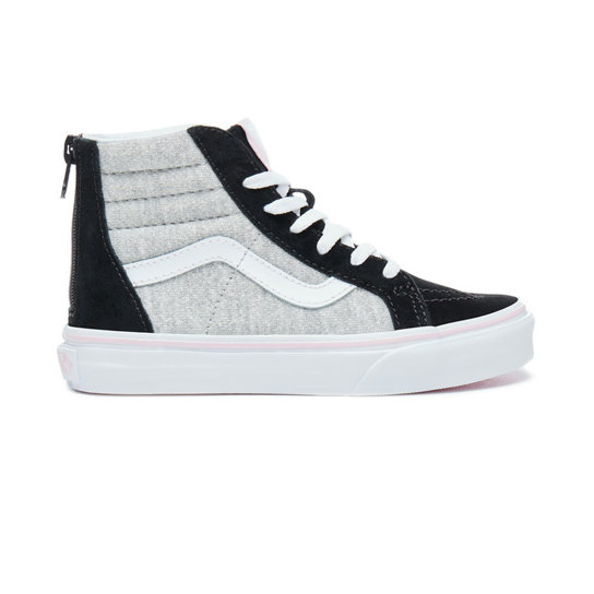 Kids Shimmer Jersey Sk8-Hi Zip Shoes (4-8 years) | Vans