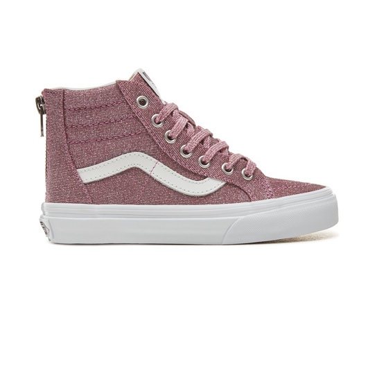 Kids Lurex Glitter Sk8-Hi Zip Shoes (4-8 years) | Vans