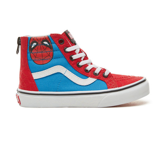7d049725ae Kids Vans X Marvel SK8-Hi Zip Shoes