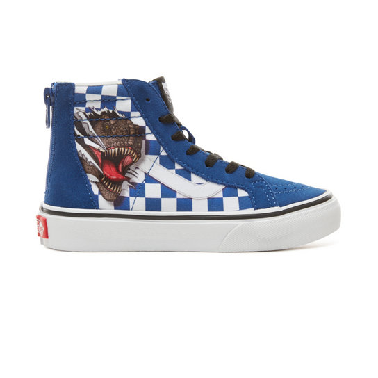 Kids Suede Checkerboard Sk8-Hi Zip Shoes (4-8 years) | Vans