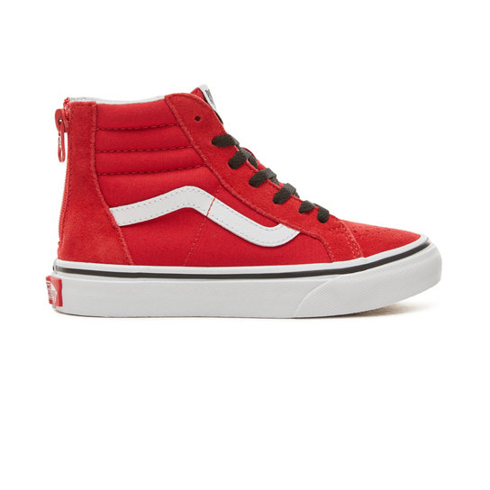 Kids Suede Pop Sk8-Hi Zip Shoes (4-12 years) | Vans