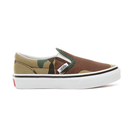 Kids Woodland Camo Classic Slip-On Shoes (4-12 years) | Vans