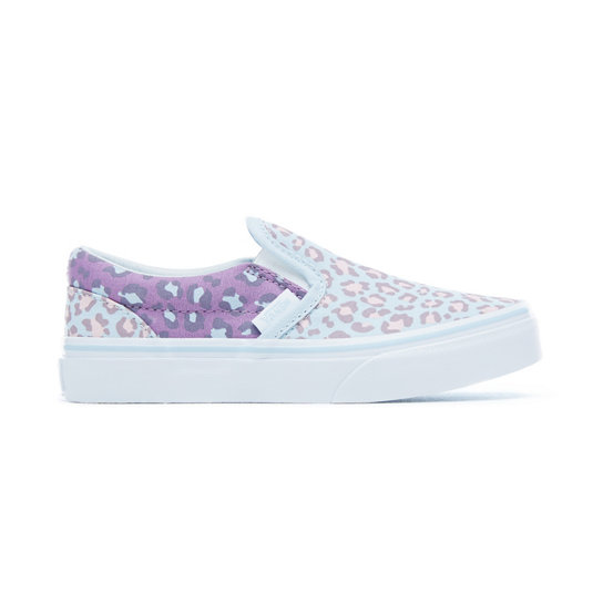 Kids 2-Tone Leopard Classic Slip-On Shoes | Vans
