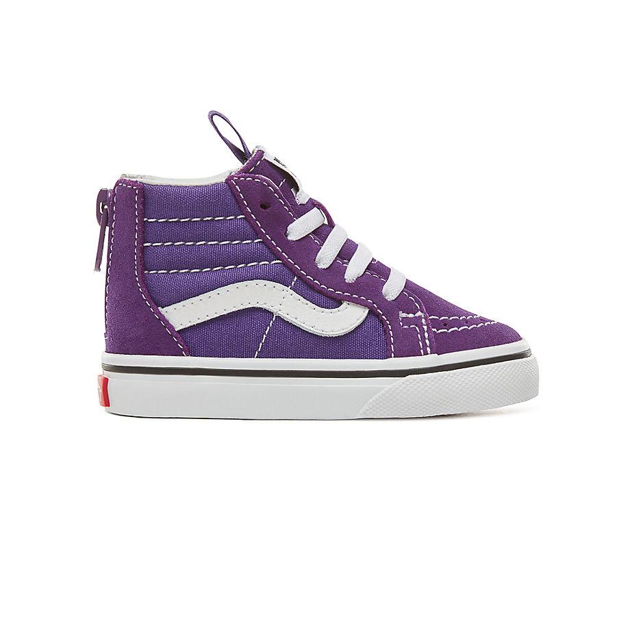 7b3baef2d8 VANS Toddler Sk8-hi Zip Shoes (0-3 Years) (heliotrope true White) Kids  Purple - £37.00 - Bullring   Grand Central