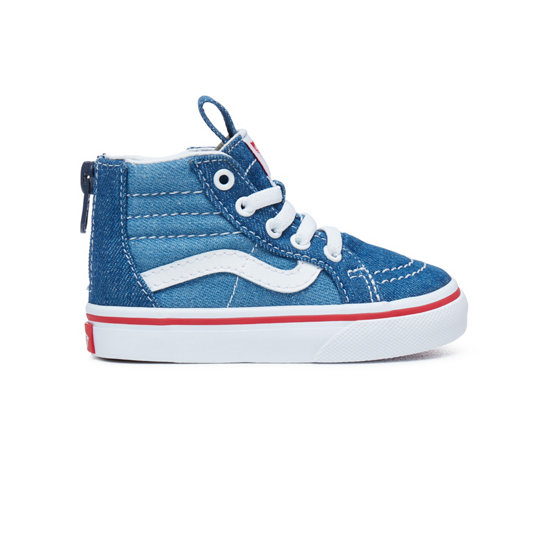 Toddler Denim 2-Tone Sk8-Hi Zip Shoes | Vans
