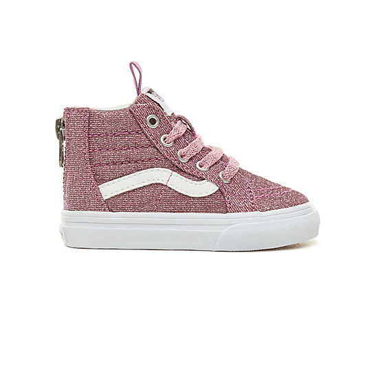 Toddler+Lurex+Glitter+Sk8-Hi+Zip+Shoes+%280-3+years%29