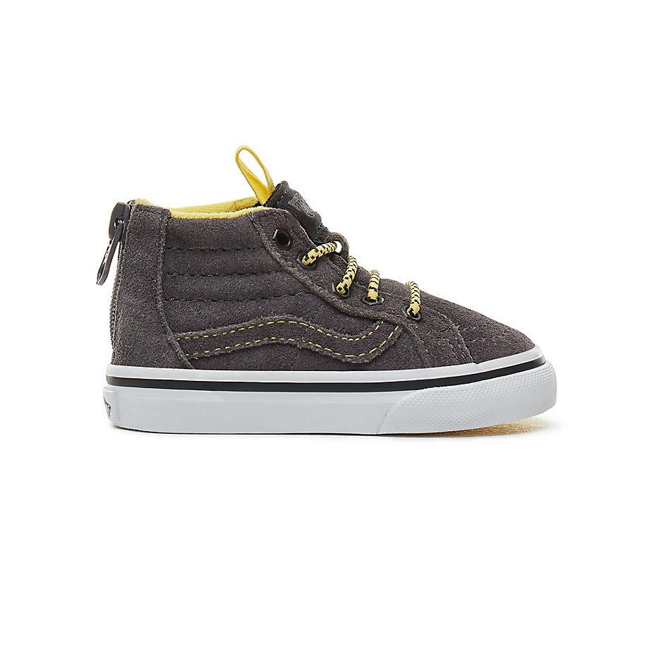 6bfaa56b1f VANS Toddler Suede Sk8-hi Mte Zip Shoes (0-3 Years) ((mte) Yellow gray) Kids  Grey