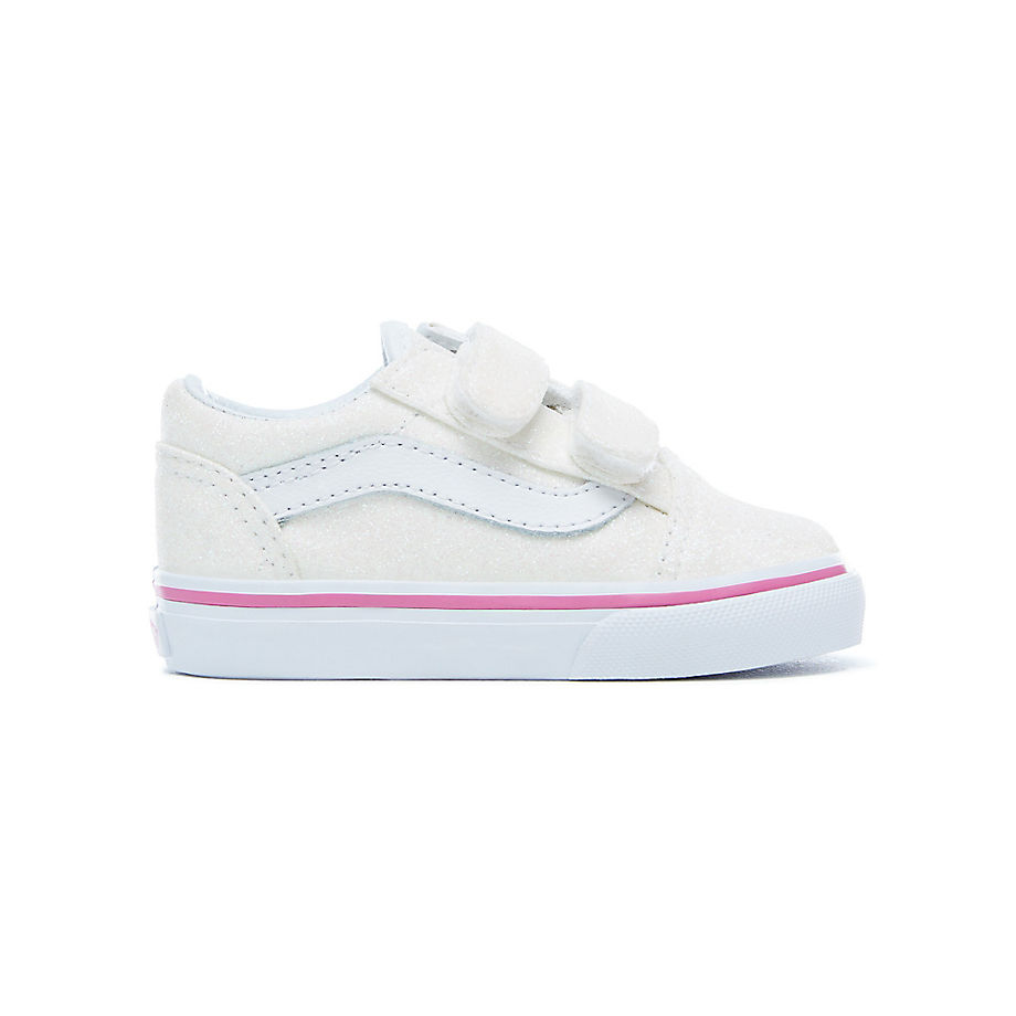 VANS Toddler Glitter Old Skool V Shoes (rainbow White) Kids Beige ... b66c249c0