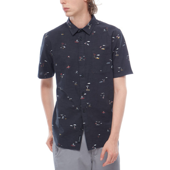 Tres Palmas Short Sleeve Shirt | Vans