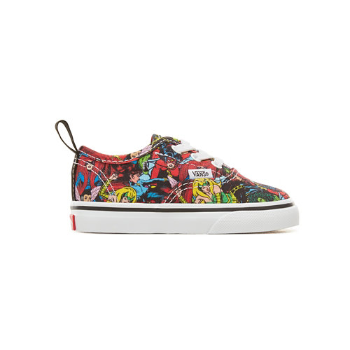 Zapatillas+de+beb%C3%A9+con+cordones+el%C3%A1sticos+Vans+X+Marvel+Authentic