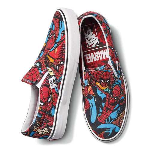 Scarpe+Vans+X+Marvel+Classic+Slip-On