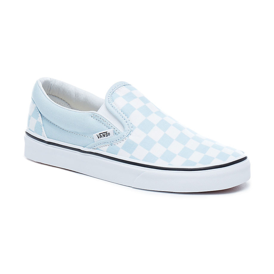 Vans Checkerboard Classic Slip On Baby Blue
