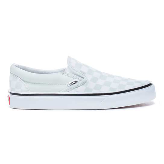 chaussures checkerboard classic slip on vert vans. Black Bedroom Furniture Sets. Home Design Ideas