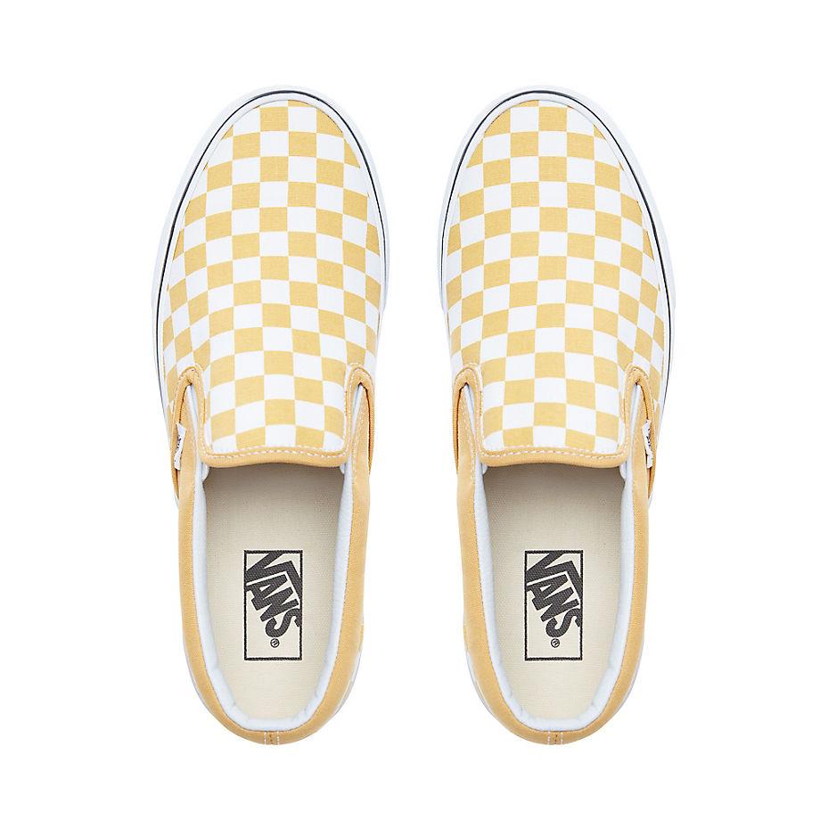 Vans Classic Checkerboard Slip On Ochre