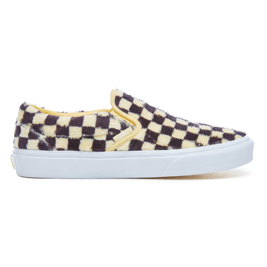 Furry Checkerboard Classic Slip-On Schuhe | Vans