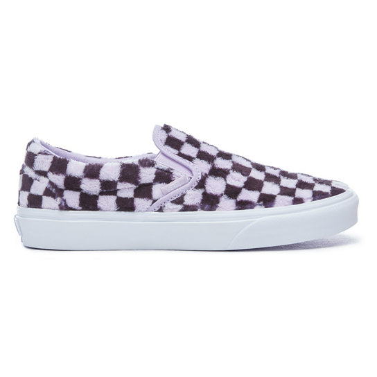 Furry Checkerboard Classic Slip-On Shoes | Vans