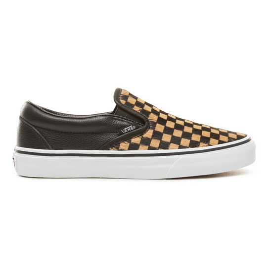 Calf Hair Checkerboard Classic Slip-On Shoes | Vans