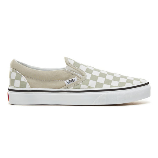 Color Theory Checkerboard Classic Slip-On Shoes (Unisex)