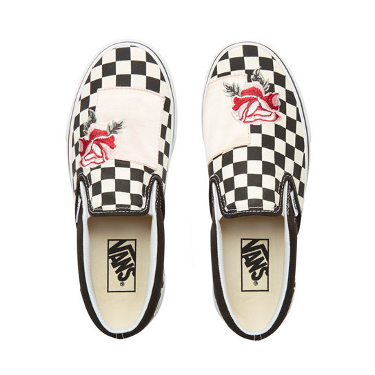 Satin Patchwork Classic Slip-On Shoes | Vans