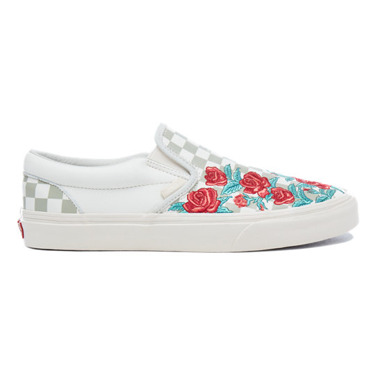 Rose Embroidery Classic Slip-On Shoes | Vans