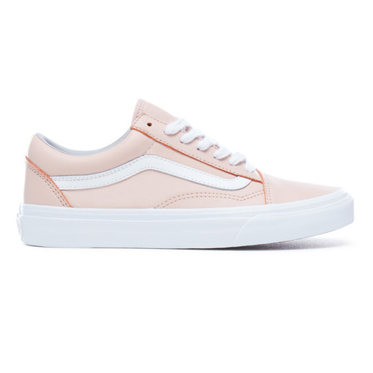 vans old skool roze leer