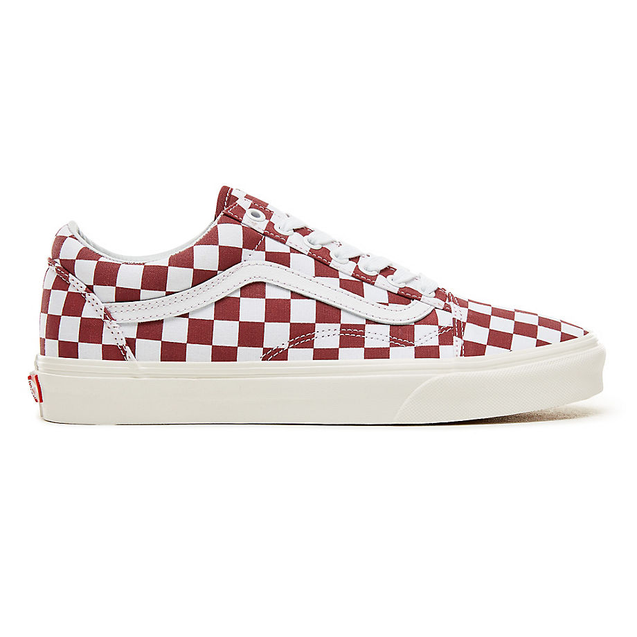 Sneaker Vans VANS Zapatillas Checkerboard Old Skool ((checkerboard) Port Royale/marshmallow) Hombre Rojo