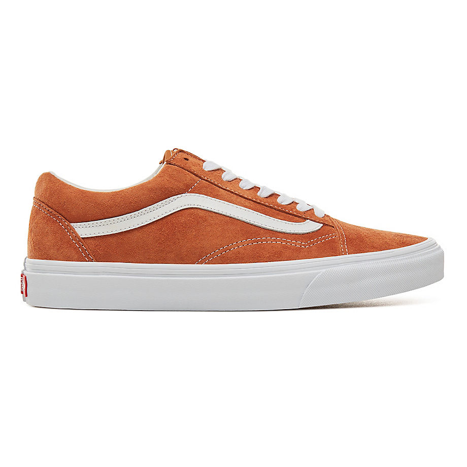e9580fa8eb5 VANS Suede Old Skool Shoes ((pig Suede) Leather Brown true White) Men Orange