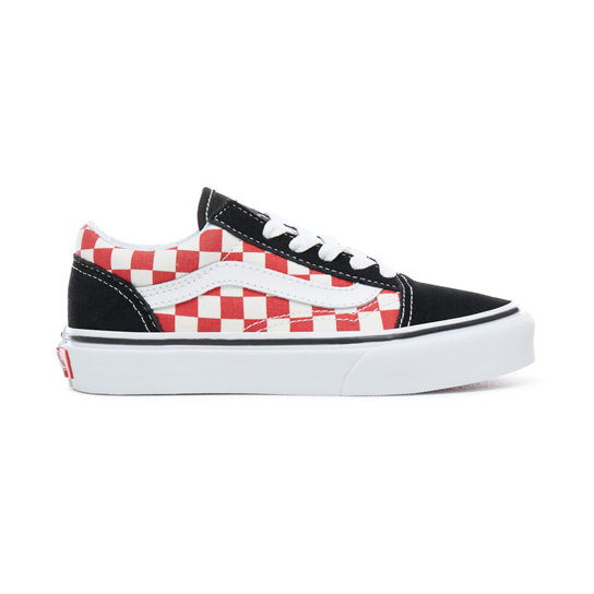 Kids Checkerboard Old Skool Shoes | Vans