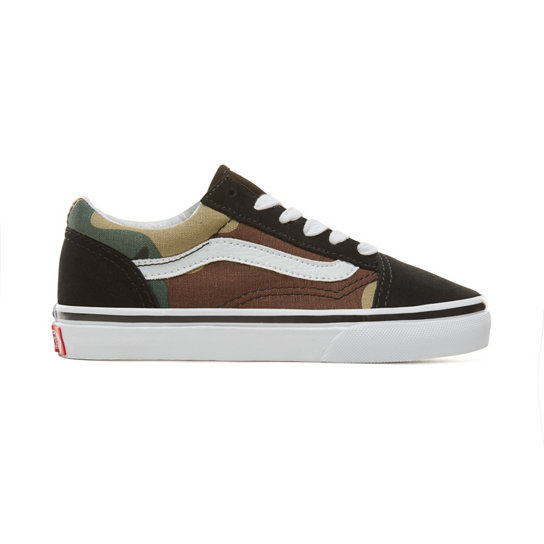 Kids Suede Woodland Camo Old Skool Shoes (4-8 years) | Vans