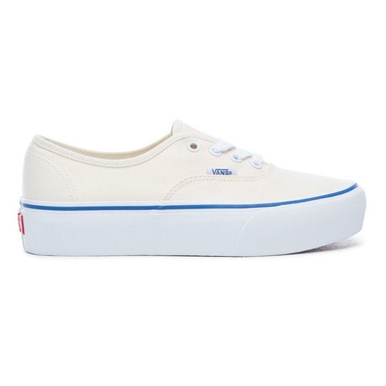 vans authentic platform bianche