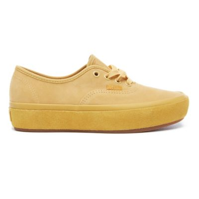 Suede Outsole Authentic Platform 2.0 Shoes   Yellow   Vans