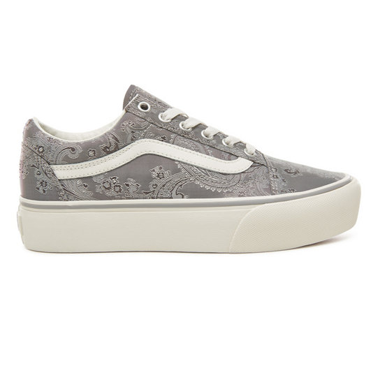 Satin Paisley Old Skool Platform Shoes | Vans