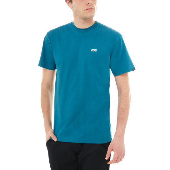 ed9b7fd62f24ae Left Chest Logo T-shirt | Blue | Vans