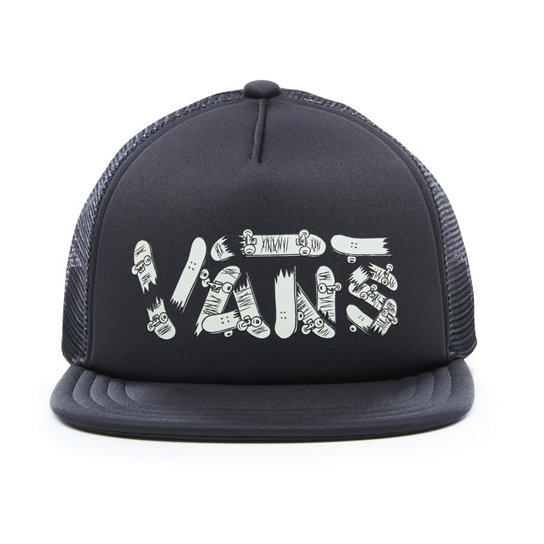 Kids Vans Glow In The Dark Logo Trucker Hat | Vans