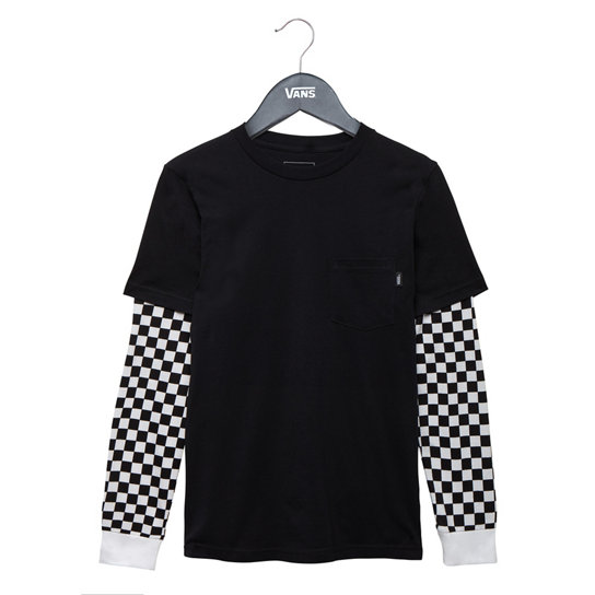 Kids Checker Sleeve T-Shirt | Vans