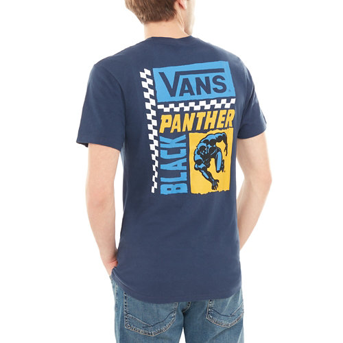 T-shirt+manches+courtes+Vans+X+Marvel+Black+Panther