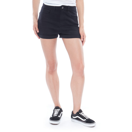 High Rise Cuff Denim Shorts | Vans