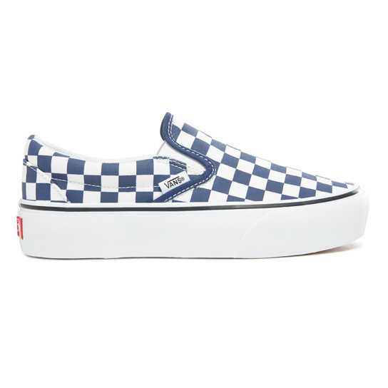 Checkerboard Classic Slip-On Platform Schoenen | Vans
