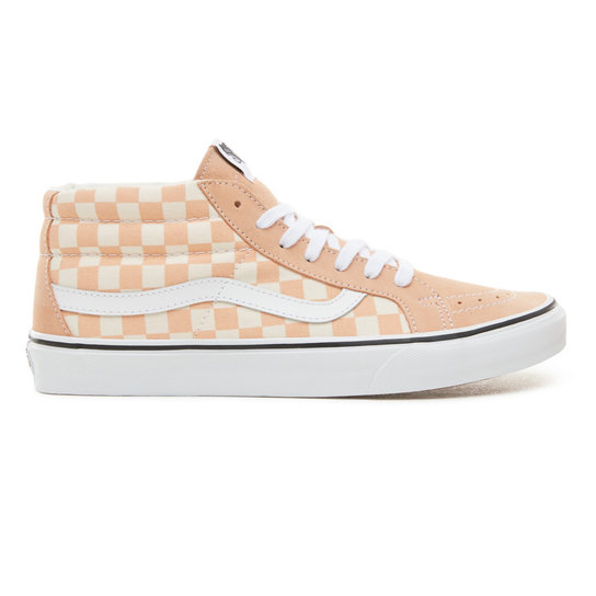 Suede Checkerboard Sk8-Mid Reissue Shoes | Vans