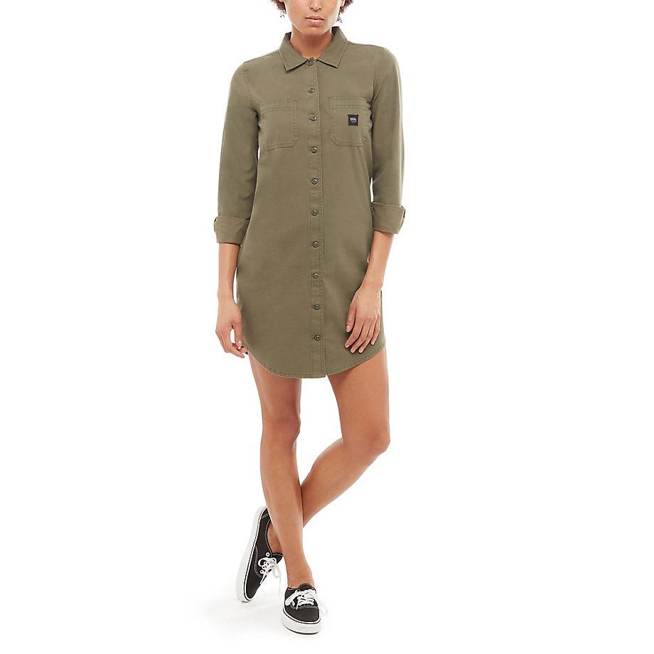 VANS Vestido Broadway (grape Leaf) Mujer Verde, Talla M