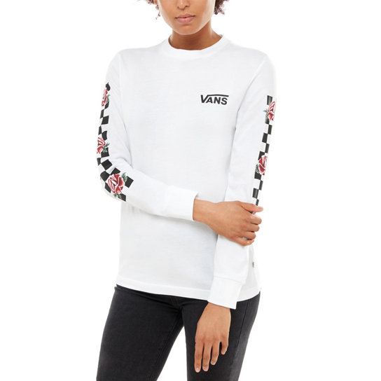 Patchwork Floral Long Sleeve T Shirt | Vans